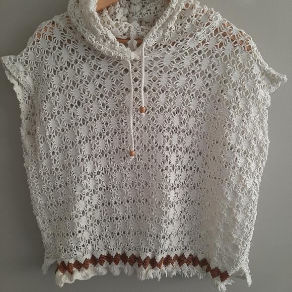Vintage Crochet Sleeveless Cover Top